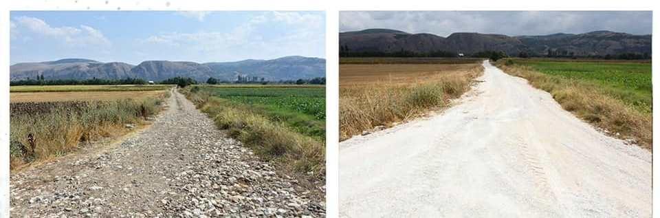 İnönü'de yol yapım çalışmaları