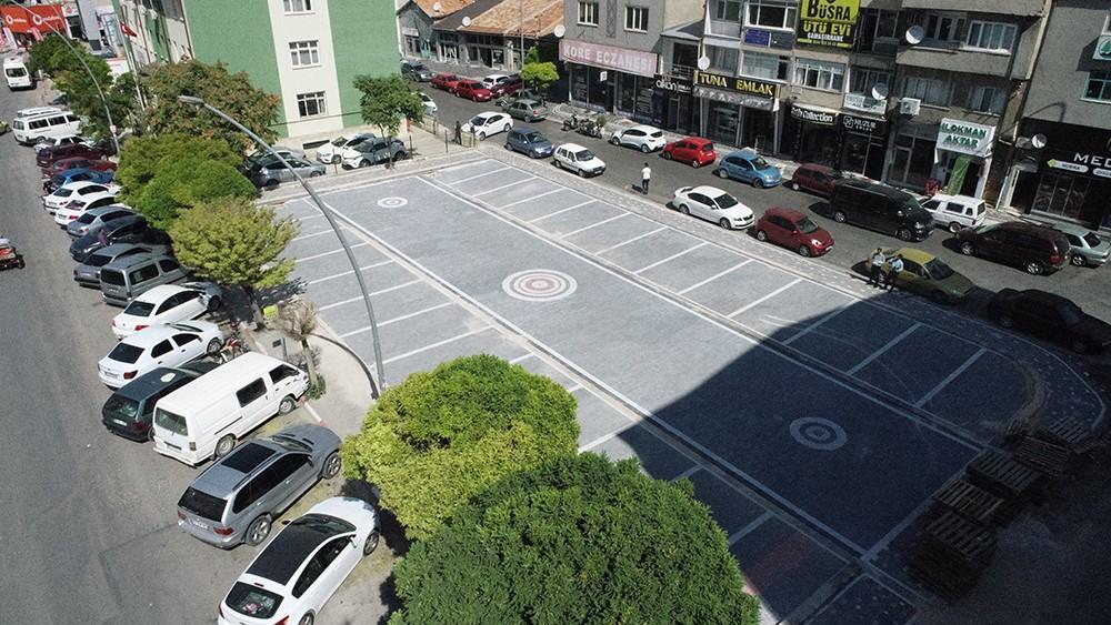 Semerciler sokağında bulunan otopark yenilendi