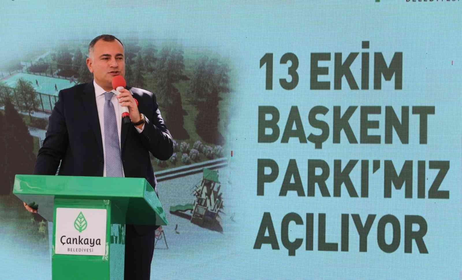 """Ankara'da """"13 Ekim Başkent Parkı"""" açıldı"""
