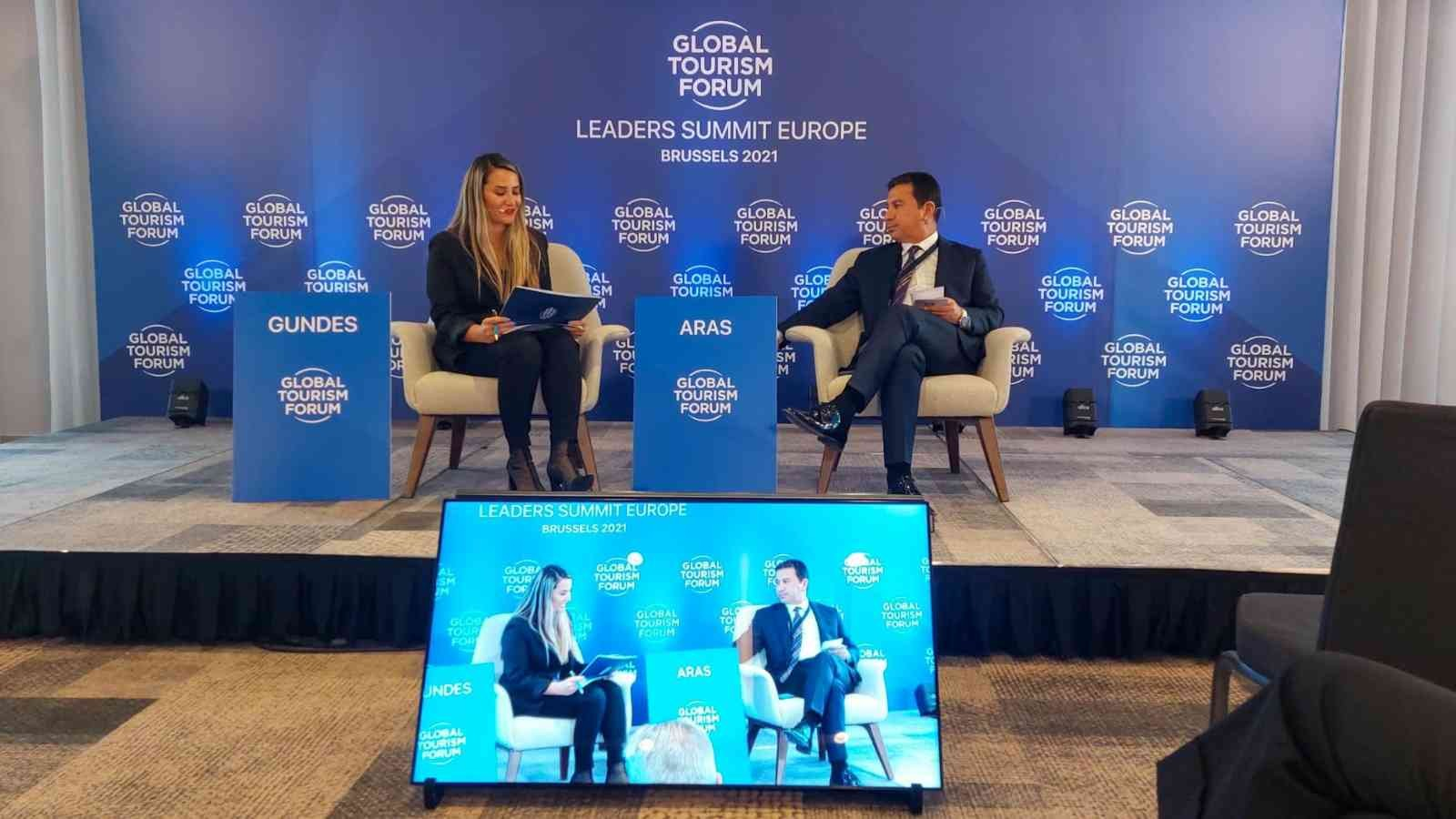 Başkan Aras Brüksel'deki forum'da Türkiye'yi temsil etti