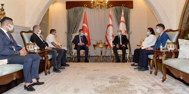Başkan Ekrem Yavaş, KKTC Cumhurbaşkanı Ersin Tatar'ı ziyaret etti