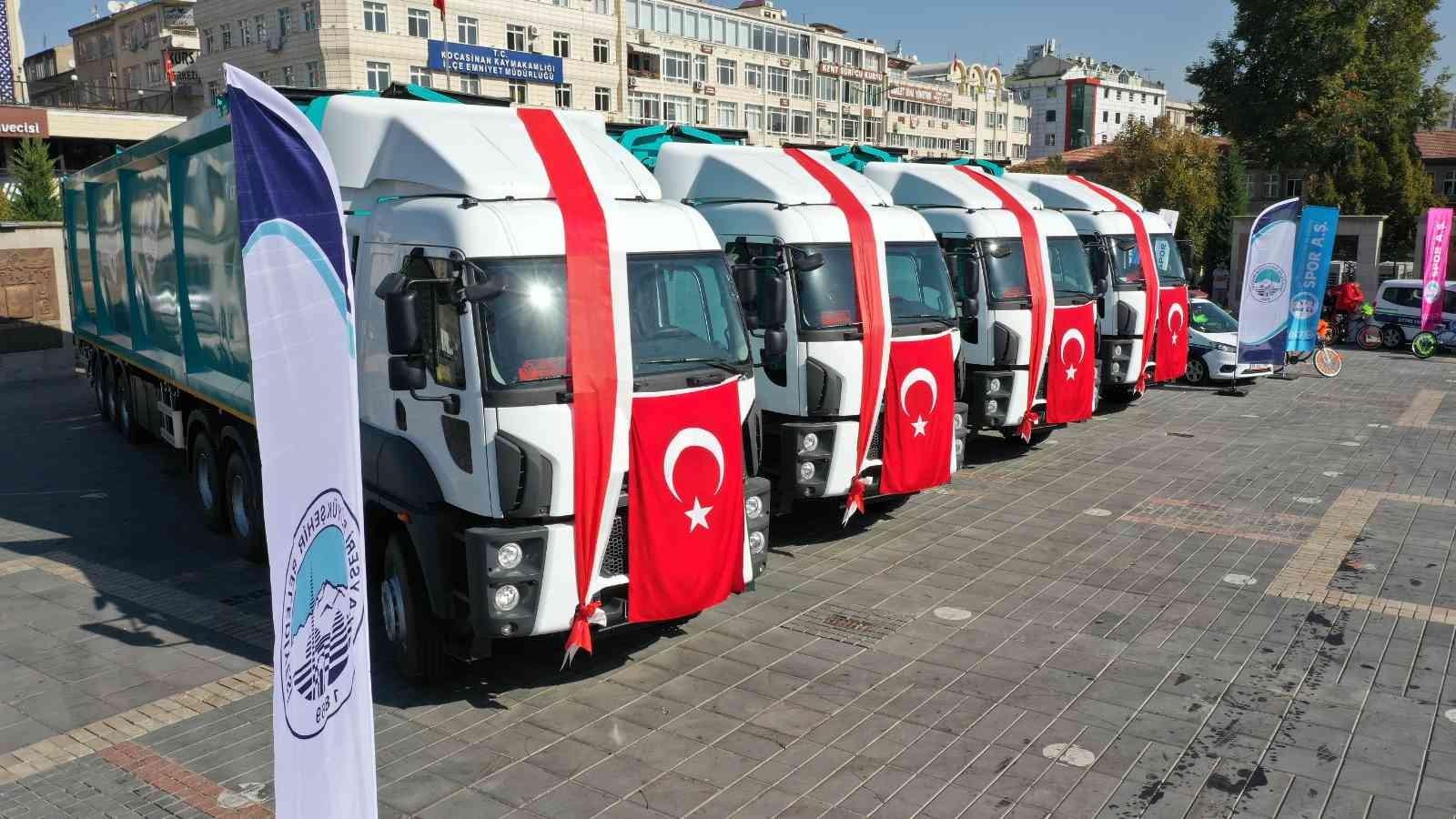 Büyükşehir'in 6 milyon TL'lik araçları ile hafriyat yönetim sistemi tanıtıldı