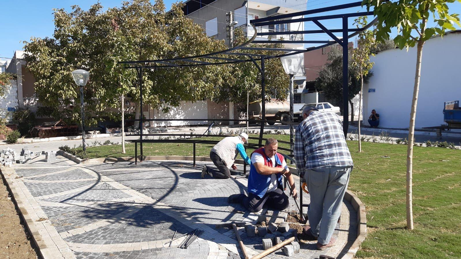 Germencik'te belediyenin çalışmaları devam ediyor