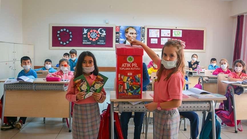 Köşk'te atık pil kampanyası yeniden başladı