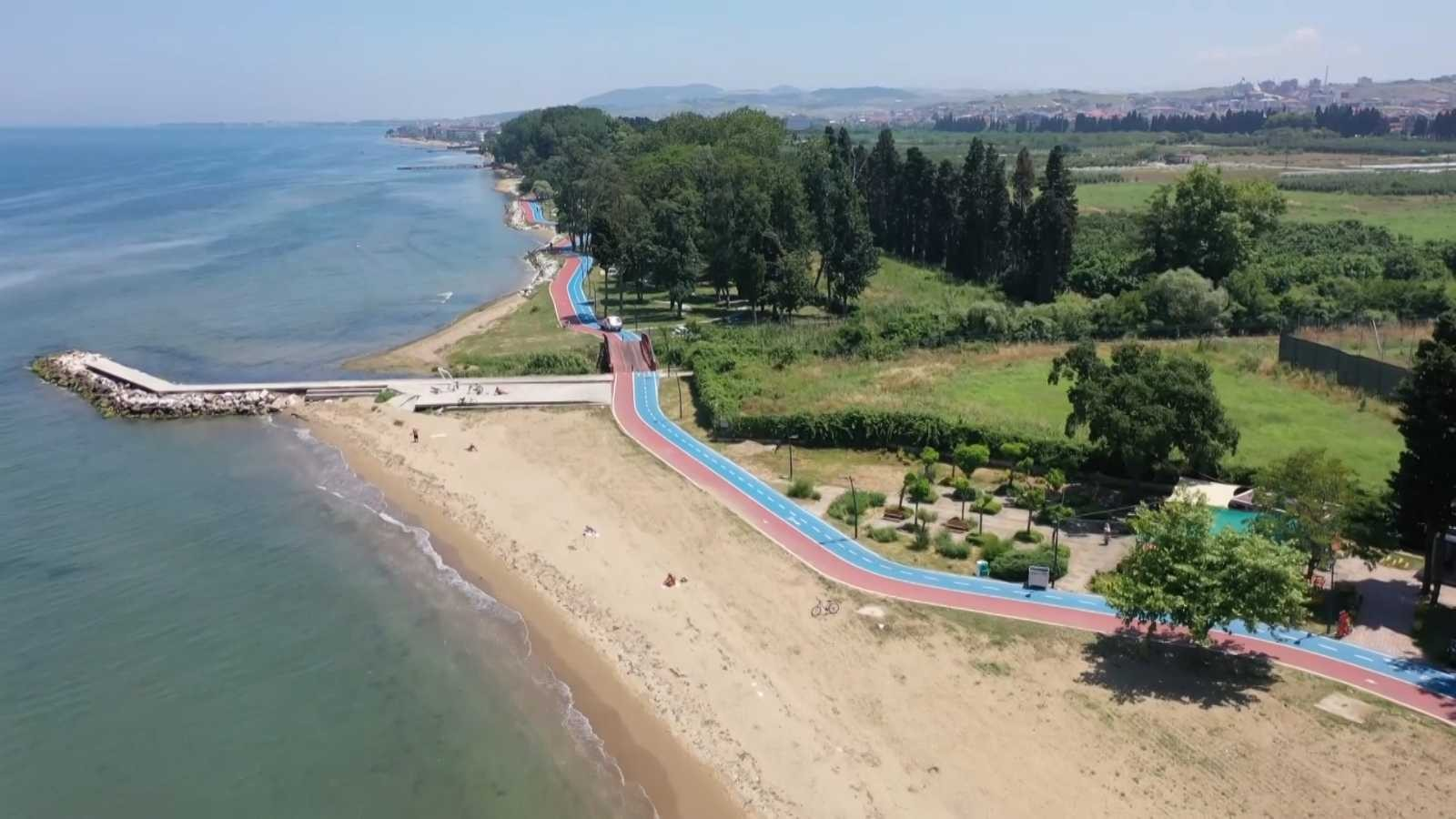 Yalova'ya 37 kilometre bisiklet yolu